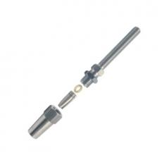 Uni Montageterminal mit Gewinde für Seile 4mm, 5mm, 6mm, 8mm - Gewindeterminal Edelstahl V4A
