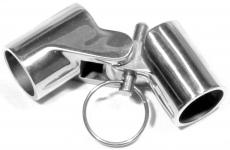 Bimini Gelenk 22, 25 mm m. Sicherung Edelstahl V4A poliert Rohrgelenk