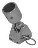 Bimini Rohrgelenk 22MM / 25MM - Verdeckbeschlag stehend mit Kugelgelenk für Decksmontage - Edelstahl V4A 316