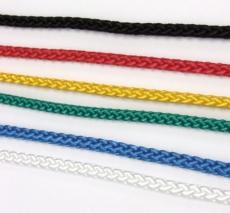 4MM - hochfeste Flechtleine, Polypropylen, 8-fach geflochten, verschieden Farben - 10 Meter