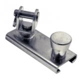 25 mm Genuaschlitten mit Wirbel Edelstahl V4A AISI316