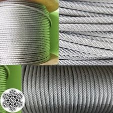 Edelstahlseil - 2mm x 10 Meter - 7x19, flexibel - V4A AISI 316