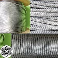Edelstahlseil - 3mm x 10 Meter - 7x19,  sehr flexibel - V4A AISI 316