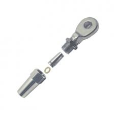Uni Montage Augterminal für Seile 4mm, 5mm, 6mm, 8mm - Schraubterminal Edelstahl V4A