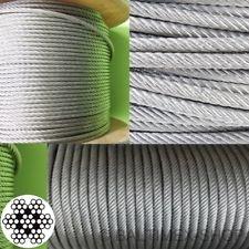 Edelstahlseil - 5mm x 10 Meter - 7x7, flexibel - V4A AISI 316