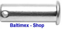 5 Stk. Steckbolzen 6x36 mm Edelstahl V4A AISI 316