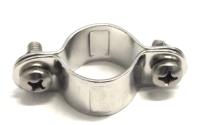 volle single Rohrschelle für 25mm Rohr Edelstahl A2