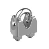 Bügelklemme Edelstahl V4A  - 2mm, 3mm, 4mm, 5mm, 6mm, 8mm, 10mm, 13mm