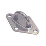 Augplatte Raute Form - 5MM, 6MM, 8MM - Edelstahl V2A AISI304 poliert