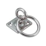 Augplatte mit Wirbel und Ring - 5MM, 6MM, 8MM - Edelstahl V2A AISI304 poliert