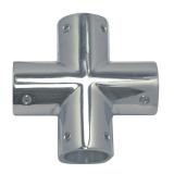 Rohrverbinder 4-Wege 22mm Edelstahl V4A AISI 316