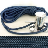 8 mm x 6 m Festmacher Polyester geflochten Navy-blue