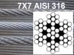 6 mm x 9 lm 7x7 Edelstahlseil V4A AISI 316 2,22¤/m
