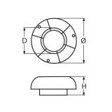 200 mm Deckslüfter mit Haube aus Edelstahl V2A poliert