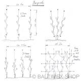 Abstandshalter Rankhilfe für 3MM Seil -  Edelstahl Wandhalter für Fassadenbegrünung