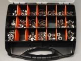 Drahtseil Zubehör Set im Sortimentskasten - Sortierbox - Organizer - 113 Teile