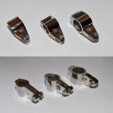 Rohrschlitten, Rohrmittelstück klappbar + teilbar - 22MM, 25MM, 30MM - Edelstahl V4A 316 poliert