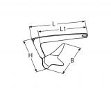 M-Anker Bruce-Anker Edelstahl V4A AISI316  -  5kg, 7,5kg, 10kg, 15kg, 20kg, 30kg