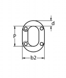 Kettennotglied zum Nieten 5, 6, 8, 10 mm Edelstahl V4A Kettenglied