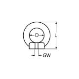 M10 Ringmutter ähnlich DIN 582 Edelstahl V4A AISI316