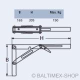 Tischplattenhalter klappbar Edelstahl V2A für Klapptisch Konsole