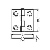 Scharnier 50 x 50 rechteckig massiv poliert V4A