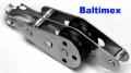 6-8mm Doppel Violinblock m. Bügel u. Hundsfott Edelstahl V4A