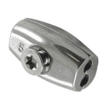 Eiform - Seilklemme Edelstahl V4A  -  2mm, 3mm, 4mm, 5mm, 6mm