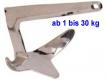 20 kg Bruce-Anker M-Anker Edelstahl V4A AISI316