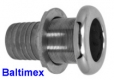 3/4 Zoll Borddurchlass mit Schlauchanschluss Edelstahl V4A AISI